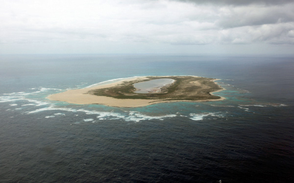 Aerial View of Laysan Island