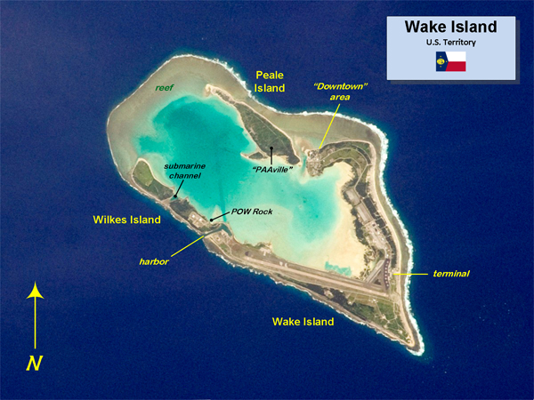 Map of the Wake Atoll in the U.S. Minor Outlying Islands
