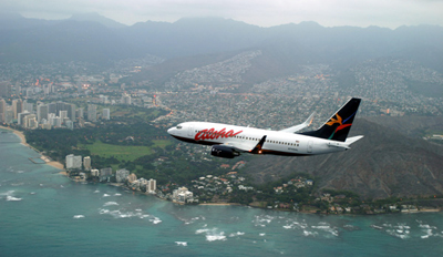 Aloha Airlines Flying Psst Diamond Head