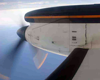 Propeller Plane Flying Over Hawaii